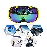 Audew Skibrille Snowboard Brille Schneebrille Skifahren Schutzbrille Schnee Sport Doppel-Objektiv UV-Schutz Anti-Nebel Skibrille Weitwinkel Für Damen Und Herren Jungen Und Mädchen 1
