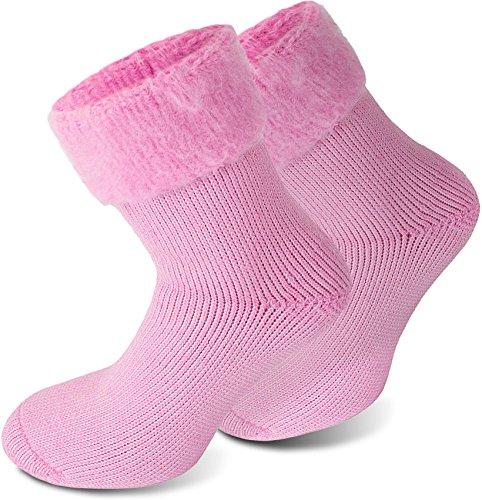 Polar Husky® 3 Paar Super Warme Thermo Socken! Vollplüsch/Perfekt geeignet für Stiefel Farbe Extrem/Hot/Rosa Größe 43/46
