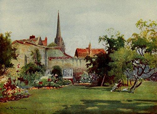 The Poster Corp William Matthison - Cambridge 1907 Christ's College Fellows' Milton's Mulberry Kunstdruck (45,72 x 60,96 cm) - College-mulberry