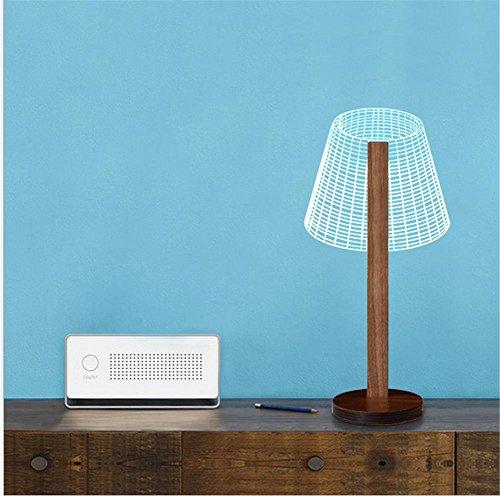 Acryl Schatten-tischleuchte (Wge Kreatives 3D Visuelles Leselicht Hölzerner Stent Acryl Schatten Kleine Lampe 3D Stereo Nachtlicht , 3)