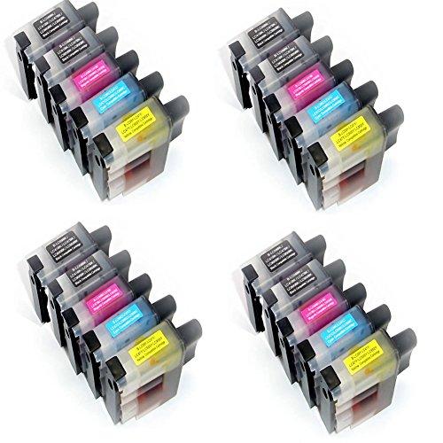 Preisvergleich Produktbild Generisches Kompatible Tintenpatrone als Ersatz für BROTHER LC900BK LC900C LC900M LC900Y ( 6x Schwarz, 4x Cyan, 4x Magenta, 4x Gelb, 20er-Pack)