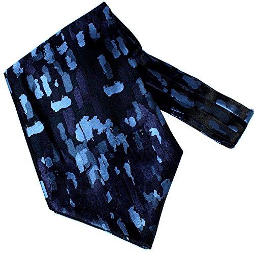 Preisvergleich Produktbild Laudati Ascot Ascotkrawatte Krawattenschal Krawattentuch Plastron Schal Halstuch Herrentuch Tuch Ascotkrawatte Krawatte Cravat E4725 Schwarz Blau Camouflage 115 x 15 cm