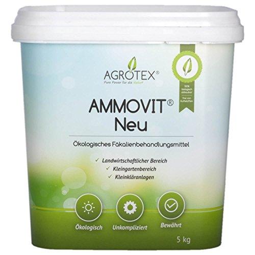 Agrotex Ammovit Neu 5 kg, ökologischer Sanitärzusatz Sanitärflüssigkeit, Chemietoilette, Rasendünger, Boot und Bus Wc