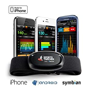Sports Tracker ST-HRM2 - Monitor de ritmo cardíaco (Negro, 40h)