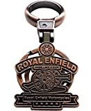 SHOPEE BRANDED Royal Enfield Metal Keychain For Cars And Bikes (Copper)
