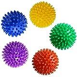 SelfTek 9cm Spiky Massage Ball for Reflexology Muscle Back Plantar Fasciitis Tissue Trigger Point Therapy Random Color
