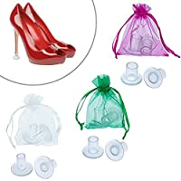 6 Pairs Stiletto High Heel Protectors, URAQT Shoe Heel Savers Stoppers Covers for Races, Weddings, Formal Occasions