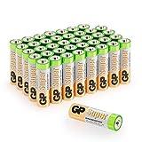 GP Batteries - Pack de 40 Pilas AA Alcalinas | Capacidad y duración excepcional | 1,5V LR06 - Mignon - MN1500-15A - AM3