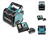 Makita DMR 200 10,8-18 V Baustellen Lautsprecher Grün Bluetooth + 1x BL 1850 18V - 5Ah Akku + 1x DC 18 RC Schnellladegerät