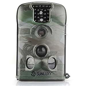 SUNLUXY® 12MP Caméra de Chasse Caméra de Surveillance Photo et Vidéo Recorder Imperméable Etanche IP54 Observation Animaux Traque 8Go SD Carte IR-CUT IR Nocturne