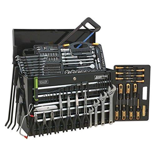 5 Schublade Kugellager (SEALEY Werkzeugkiste ap225bcombo 5Schubladen mit Kugellager Folien–Schwarz & 230pc Tool Kit–Rot)
