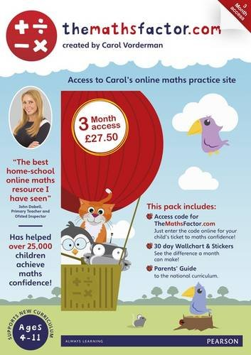 The Maths Factor: 3 Months Access to Carol Vorderman's themathsfactor.com