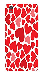 Back Cover for OnePlus X valentines day hearts