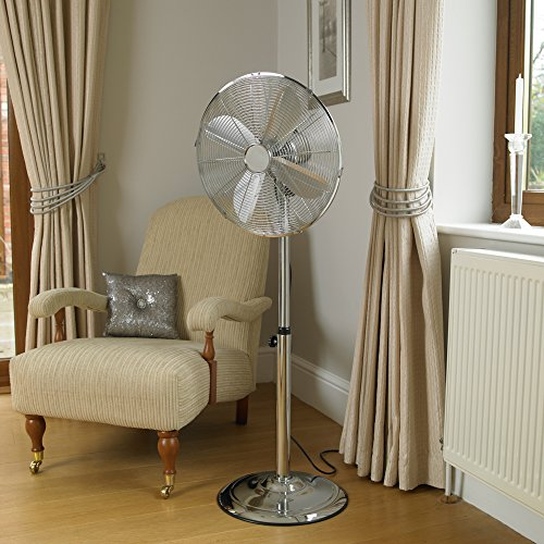 51s3eygKGlL. SS500  - Kingfisher Limitless Chrome Pedestal Fan, 16 Inch