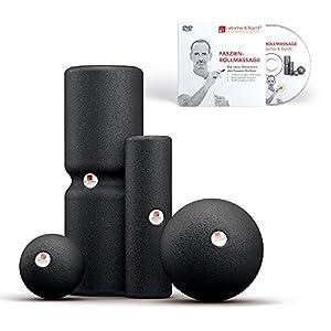 Liebscher & Bracht Set: Faszienrolle und Faszienball (je 2 Stück) Zum Faszien-Training von Muskeln, Bindegewebe und Stoffwechsel mit Übungen auf DVD