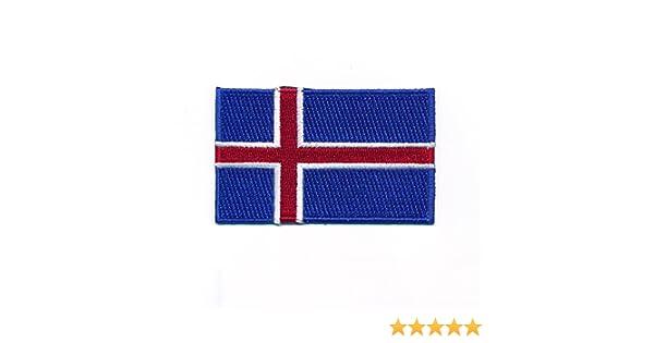 40/x 25/mm Island Ice Pays Reykjavik Europe Drapeau Flag /Écusson thermocollant 0965/A