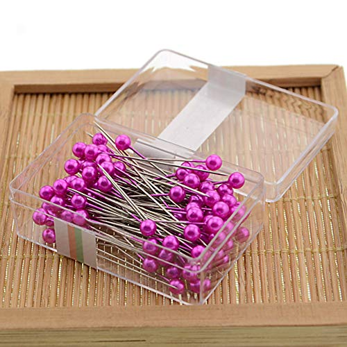 Craft, spilli professionali fai da te per abbellire abiti con scatola di perle, attrezzi da cucito (rosso rosa)