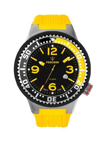 Kienzle K2011153033-00249 - Orologio da polso uomo, silicone, colore: giallo