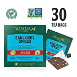 VAHDAM, Earl Grey Masala Chai Teebeutel | 30 Teebeutel (2er-Set) | 100% natürliche Gewürze | Schwarzer Tee mit gewürztem Chai-Teebeutel aus Bergamottenöl | Earl Grey Tea