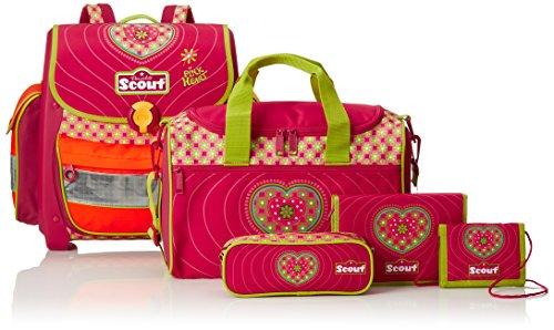 Scout Schulranzen-Set Basic Buddy Set 1 5 tlg Pink Heart 97 cm Pink 72500778700 - 4