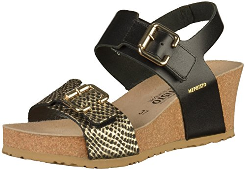 Mephisto P5126078 Femmes Sandale Noir