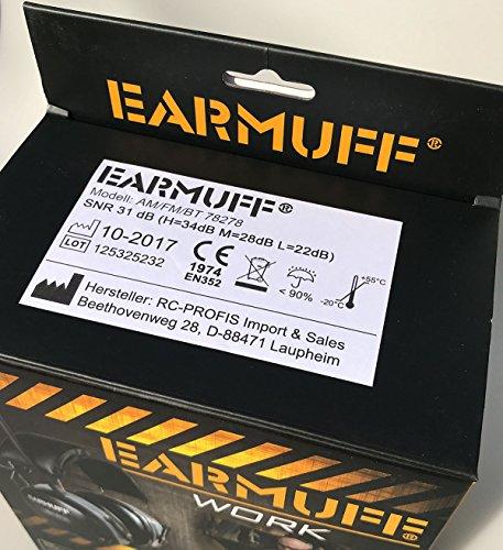 2017 DS-Alert EARMUFF dynamischer 31dB Gehörschutz mit BLUETOOTH und Surround Umgebungswahrnehmung - Extra robuster Radio Kapsel Gehörschutz Kopfhörer mit SmartPhone Anschluss inkl. AUX Kabel - 9