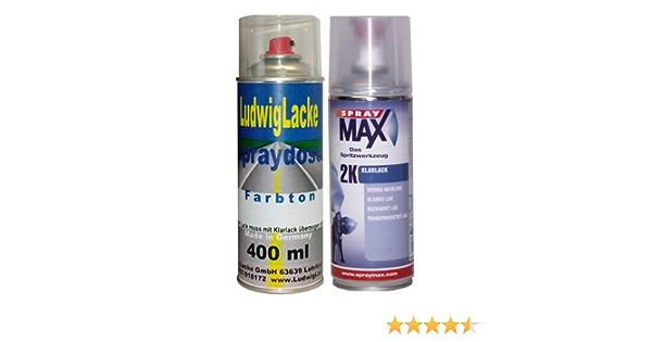 Ludwig Lacke Lc5m Moonlightblau Für Vw Premium Spray Set Autolack 2k Klarlack Je 400ml Auto
