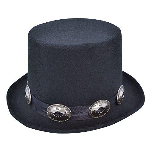 Bristol Novelty Hut im Rocker-Stil, schwarz, Einheitsgröße
