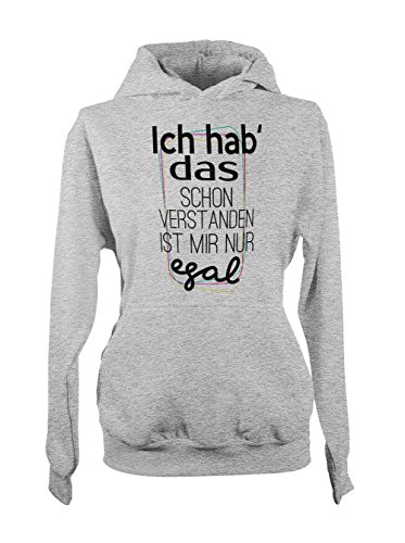 Ich Hab Das Schon Verstanden Ist Mir Nur Egal Lustiges Fun Damen Hoodie Sweatshirt Grau Medium