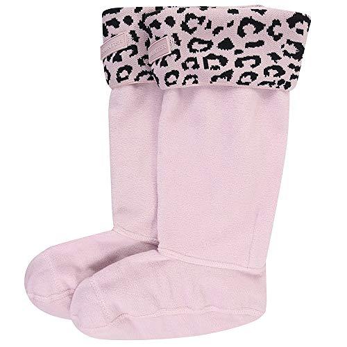 Boot Socks Snow Leopard Cuff haze pink leopard jacquard, Größe:L ()