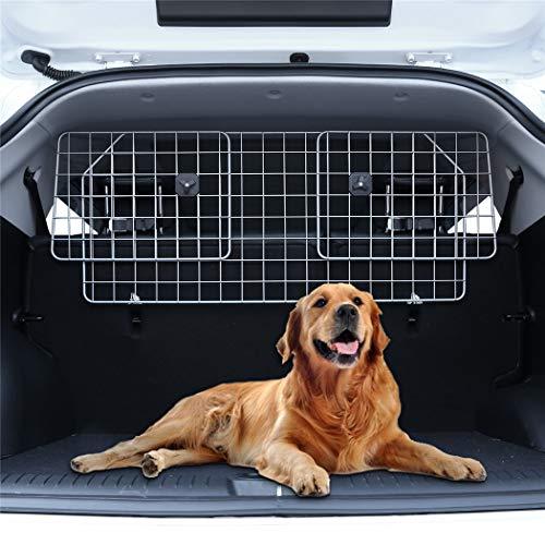 Pujuas Hundegitter Auto Schutzgitter Kofferraum Trenngitter für Hunde Verstellbar Netze Gitter Hundeschutzgitter Kopfstützen (A1)