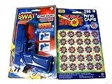 Picture Of Swat Academy 17cm Blue Plastic 8-shot Cap Gun + 200 Caps