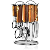 POG Galaxy Stainless Steel Cutlery Set, 25-Pieces, Brown