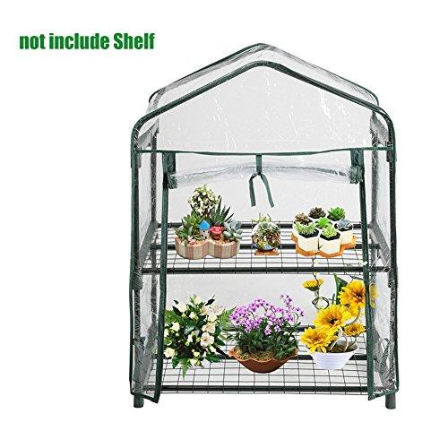 Il tuo pc portatile da giardino mini walk-in in giardino, per piante da esterno e da giardino piante da giardino balcone ((senza 2 ripiani) 69,1 cm l x 49 cm p x 92,2 cm h)