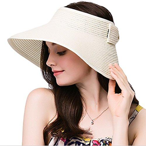 Leisial Mujer Sombrero Sol Gorro Ancho De Sol Color Sólido Diseño Elegante  Del Bowknot Casquillo De f358661ccc3d
