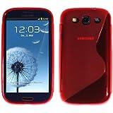 Schutzhülle Silikon S-Line für Samsung Galaxy S3 i9300 Rot