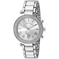 U.S. Polo Assn. Women's Silver Dial Alloy Band Watch - USC40172