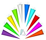 Unbekannt Schultüte / Bastelschultüte - Pink - 70 cm / Tüllabschluß - Zuckertüte - Rohling Zum Basteln, Bemalen und Bekleben Bastelschultüte - Malen - Kinder & Erwachsene - Schultütenrohling