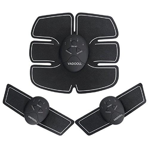 Neue Wireless Bauchmuskeln Fitness Gerät Bauchmuskeltrainer Elektrostimulation Massagegerät EMS-Training Muskelaufbau und Fettverbrennung (schwarz)