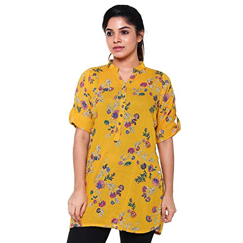 EASY 2 WEAR Women Tunic Top (E2WLAT0000111_L, Multi-coloured, Large)