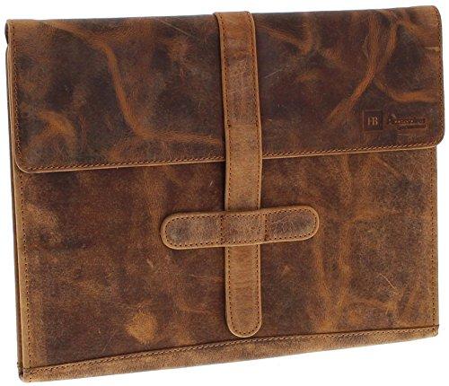 Fashion Boots FB PADFOLIO 1033 Distressed Red Schreibmappe für Herren und Damen Braun -