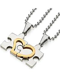 352d23e69e47 Amazon.es  colgante corazon oro - Collares   Hombre  Joyería