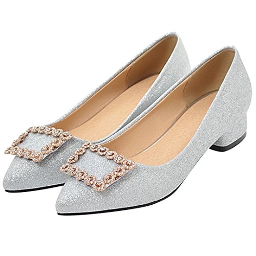 AIYOUMEI Low-Top Donna silber(glitzer)