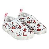 Chaussures de Toile Fille Minnie Mouse Disney sans Lacets, Blanches et Rouges (Tailles 22 à 27) (22 EU)