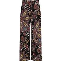 WearAll Plus Womens brede been Palazzo broek broek dames uitlopende Paisley Print Stretch 12-26