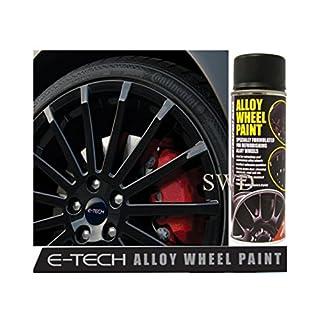 E-Tech Motorsport Black Alloy Wheel Paint Chip resistant Wheel refurb
