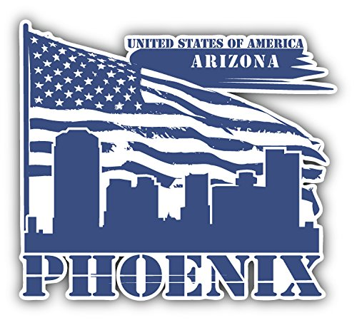 Phoenix City Arizona Usa Art Decor Vinyl Sticker Pegatina 12 X 10 Cm