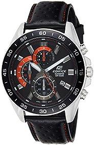 Casio Men's Dial Leather Band Watch - EFV-550L-1A