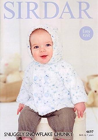 Sirdar 4697 Knitting Pattern Babies Boys Jacket in Snuggly Snowflake