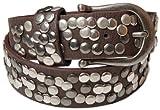 styleBREAKER cintura borchiata in stile vintage, cintura borchiata accorciabile, donna 03010008, colore:105cm, colore:Marrone scuro